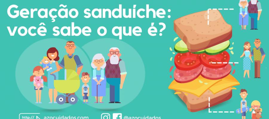 Geração sanduíche você sabe o que é - Arte LinkedIn